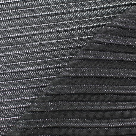 Lurex pleated fabric - gold Supreme x 10cm