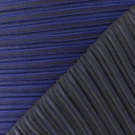Lurex pleated fabric - blue Supreme x 10cm