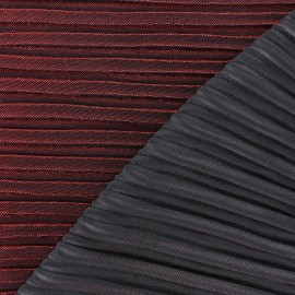 Lurex pleated fabric - red Supreme x 10cm