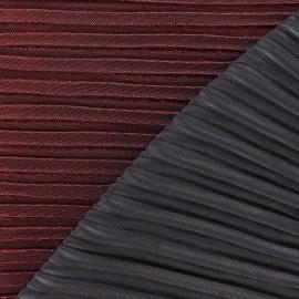 Tissu plissé lurex Supreme - rouge x 10cm