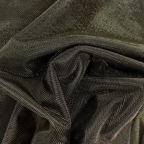 Tissu polyester brodé lurex Ippotis - doré x 10cm