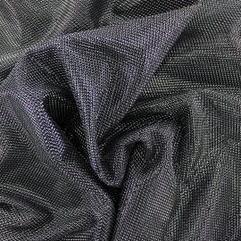 Tissu polyester brodé lurex Ippotis - argent x 10cm