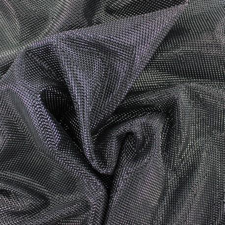 Lurex polyester fabric - silver Ippotis x 10cm