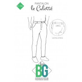 Patron Pantalon Chino Homme Les BG - Le Culotté