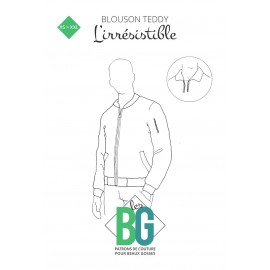 Patron Blouson Teddy Homme Les BG - L'Irrésistible