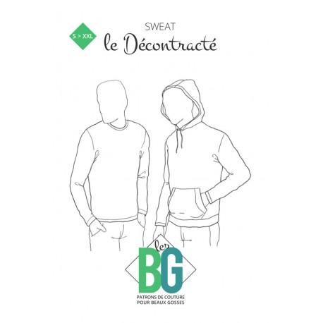 Patron Sweat Homme Les BG - Le Décontracté