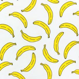Tissu jersey parfumé Banane - blanc x 10cm