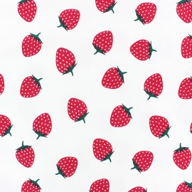 Scented Jersey fabric - White Strawberry flavour x 10cm