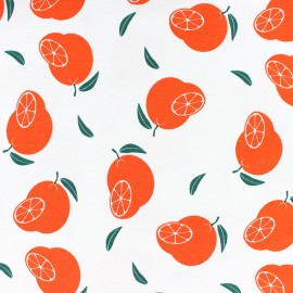 Scented Jersey fabric - White orange flavour x 10cm