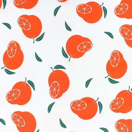 Scented Jersey fabric - White orange flavour x 10cm