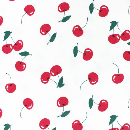 Scented Jersey fabric - White Cherry flavour x 10cm