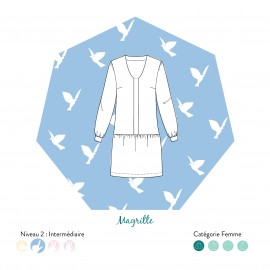 Dress/Blouse Sewing Pattern - Les patronnes Magritte
