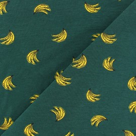 cotton Jersey fabric - dark green Bananarama x 10cm