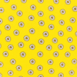 cotton Jersey fabric - yellow Daisy x 10cm