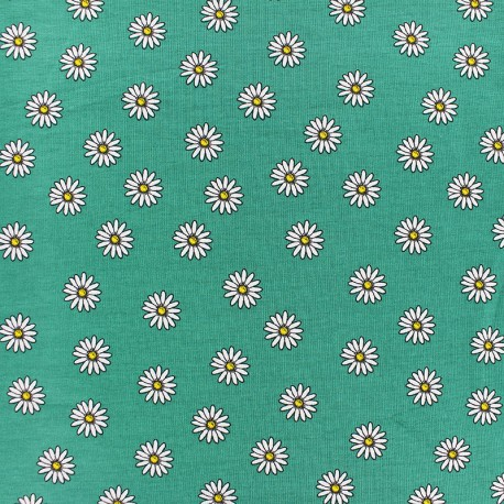 cotton Jersey fabric - yellow Daisy x 10cm