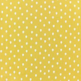 Tissu jersey Daisy - jaune x 10cm