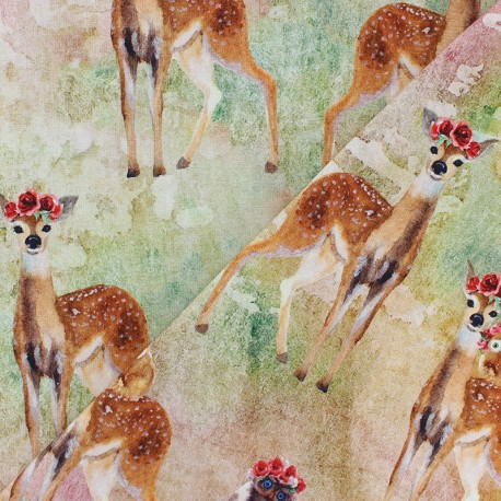 cotton Jersey fabric - off-white Autumn Day x 10cm