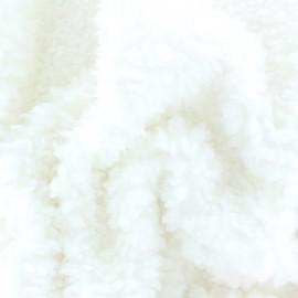 Tissu Fourrure Nébuleuse - écru x 10cm