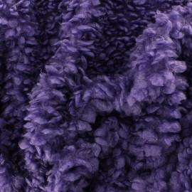 Tissu Fourrure mouton Nébuleuse - violet x 10cm