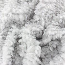 Faux sheep fur fabric - yellow Nebula x 10cm