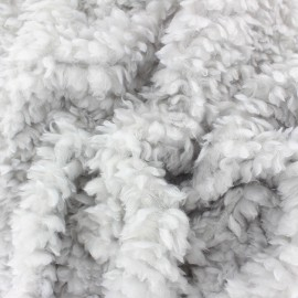 Tissu Fourrure mouton Nébuleuse - jaune x 10cm