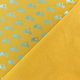 Tissu Softshell Scooter - jaune x 10cm