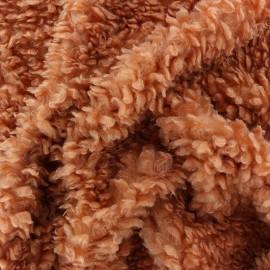 Tissu Fourrure mouton Nébuleuse - Brique x 10cm