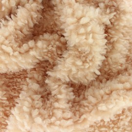 Faux sheep fur fabric - camel Nebula x 10cm