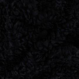 Faux sheep fur fabric - Black Nebula x 10cm