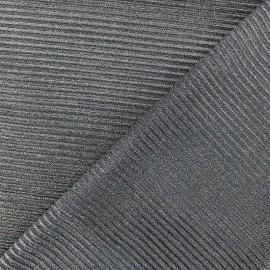 Tissu polyester lurex aspect côtelé - doré x 10cm