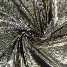 pleated polyester fabric - gold x 10cm