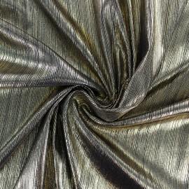 Tissu polyester plissé - doré x 10cm