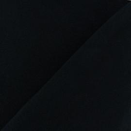 Tissu Polaire Coton uni - noir x 10cm