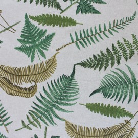 Polycotton fabric - Natural Fern x 30cm