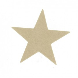 Imitation buckskin Big Star iron-on applique - color to choose