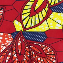 Tissu Wax Aissa - rouge x 10cm