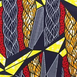 Tissu Wax Ashanti - rouge x 10cm