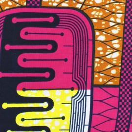 Wax print fabric - pink Bariah x 10cm