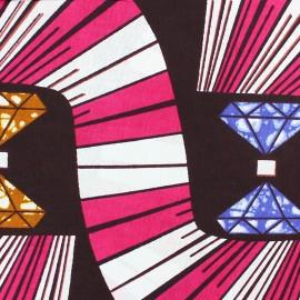 Wax print fabric - pink Amali x 10cm