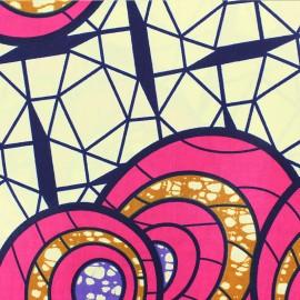 Wax print fabric - pink Shade x 10cm