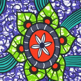 Tissu Wax Anjum - vert x 10cm