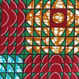 Wax print fabric - Red Binti x 10cm