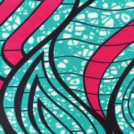 Wax print fabric - Green Adana x 10cm