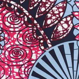 Wax print fabric - Blue Jamelia x 10cm