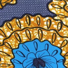 Tissu Wax Abedin - bleu x 10cm