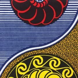 Tissu Wax Bahjat - bleu x 10cm