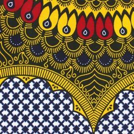 Wax print fabric - yellow Ajamu x 1 m