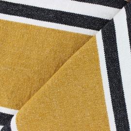 Tissu coton tissé Chowpatty - ocre x 10cm