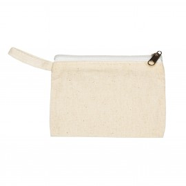25 x 10 cm Cotton Wallet - Natural