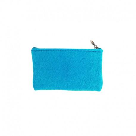 Felt Wallet to Customize - Turquoise